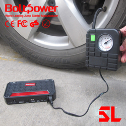 Boltpower Air compressor 400AMP 12v emergency car rechargeable jump starter and alternator car battery