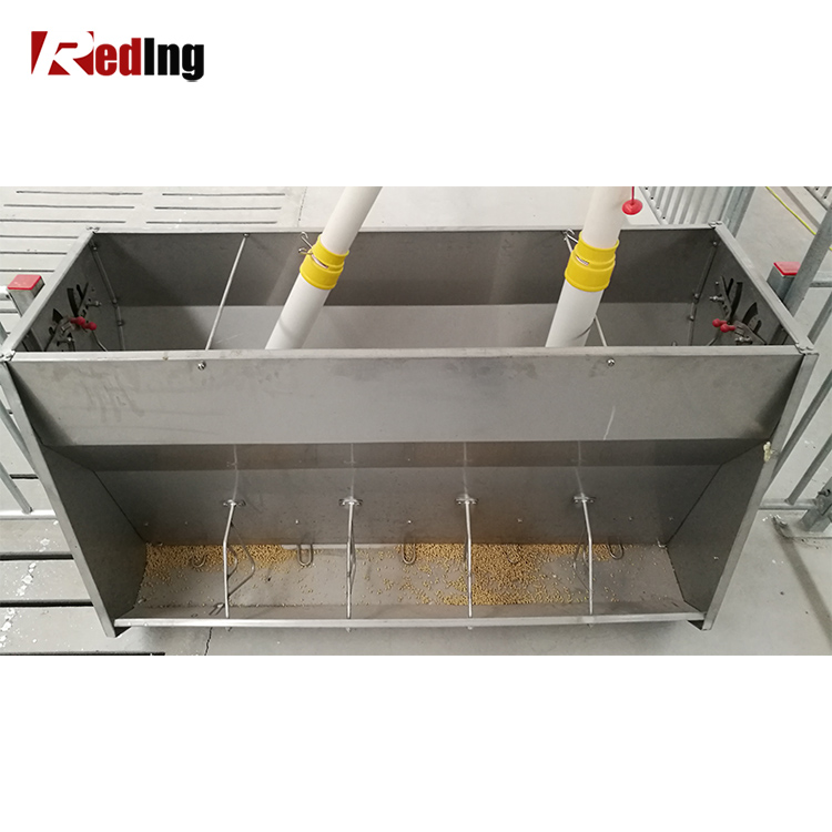 hog farming detail feeders equipment product sale one pig ss used for feeder side