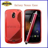 TPU Gel Case for Samsung Google Galaxy Nexus i9250, S Line Wave Cover for Samsung Nexus Prime