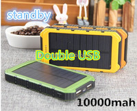Hot Selling Waterproof Solar panel Power Bank 10000mah for Mobile Phone MP3 MP4 PDA