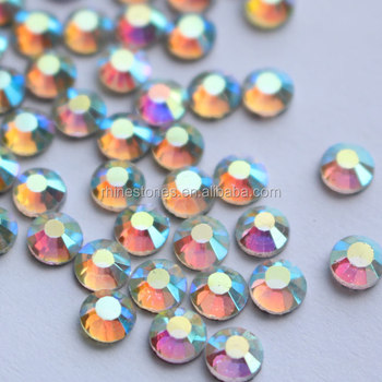 0619N  5mm 20SS 1440pcs flat back clear ab crystal ab stone iron on Rhinestones for shoes or clothing or bag,transfer strass
