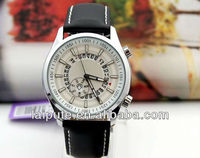 Hot sales fashion style leathe strap watches ,high quanlity men watch