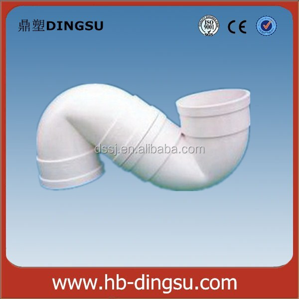 China Supplier PP silence drainage plastic pipe fitting 50mm S type adjustable trap