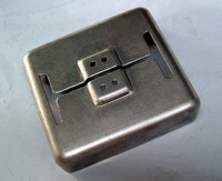 Custom Made High Quality Brushed Stainless Steel Light Switch Plate Cover