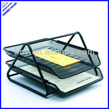 2 tier sturday office metal wire paper file a4 document tray