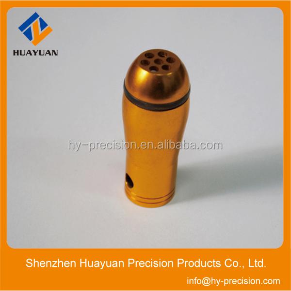Custom anodized aluminum cnc turning pen parts