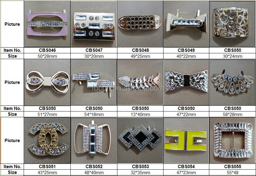 rhinestone metal shoe accessories C4