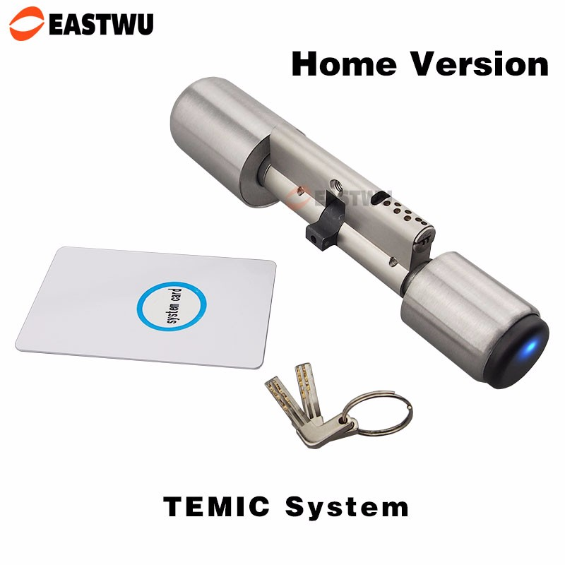 European Electronic Cylinder Door Lock Smart Card Mortise Lock Cylinder Core Intelligent Lock Cylinder RF Card TEMIC <strong>System</strong>