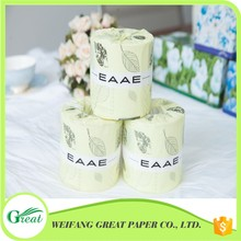Manufacturer unbleached cheap ang nice household toilet roll tissue paper