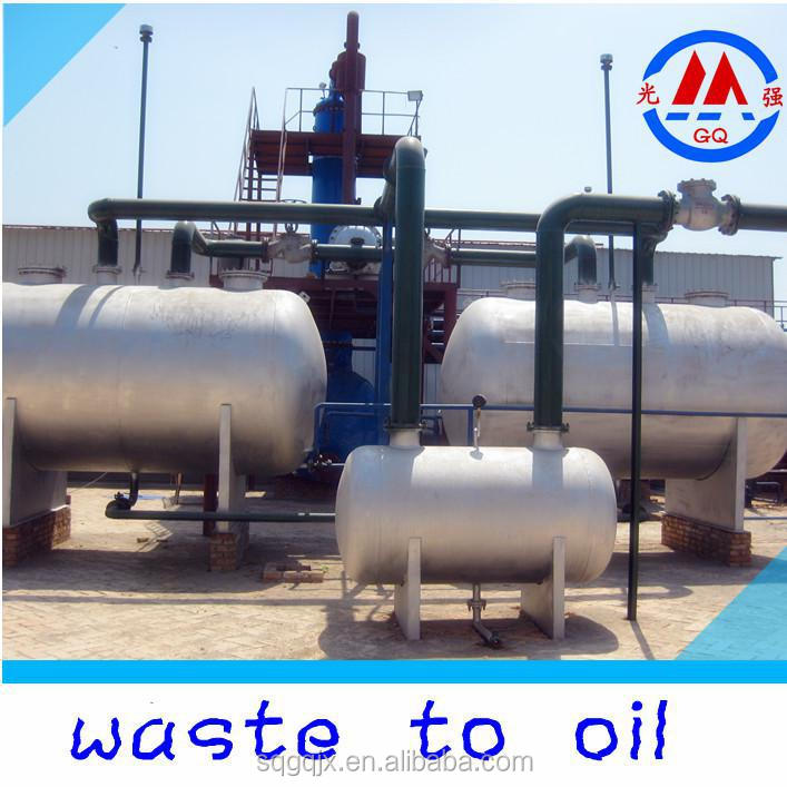 85% Oil Yield Waste Plastic Oil to Diesel Gasoline Oil Distillation Plant