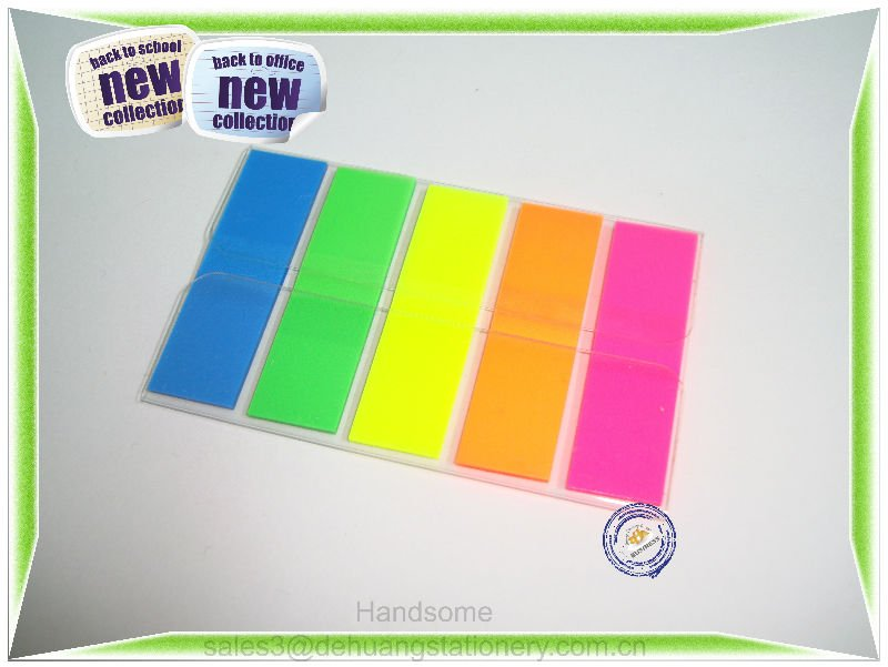 Z type PET Sticky Note Film Index Pads