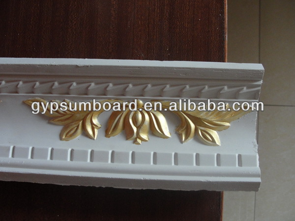 Interior Ceiling Wall Decorative Gypsum Moulding/Plaster Of Paris Cornice