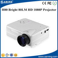 H80 Bright 80LM HD 1080P Mini LCD Image System Multimedia LED Projector Home Theater Cinema Digital Projectors Video VGA HDMI