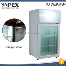 Dynamic cooling system R404a white portable commercial ice cream display freezer