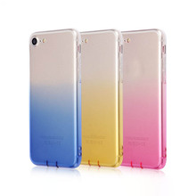 Rainbow color Clear Dust plug Soft TPU cell phone case For iPhone X 8 Plus 6 7