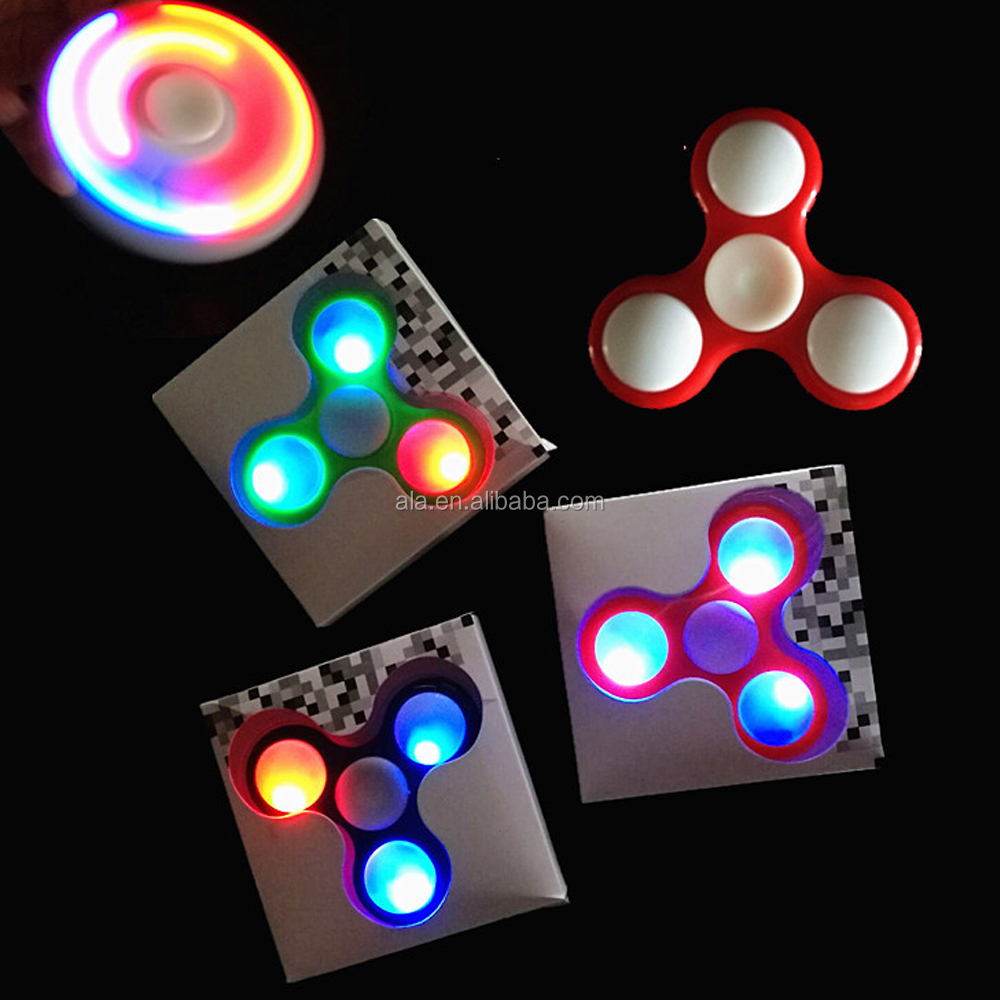 Ultra Fast Bearings Finger fidget spinner figet toy bat hand spinner with LED