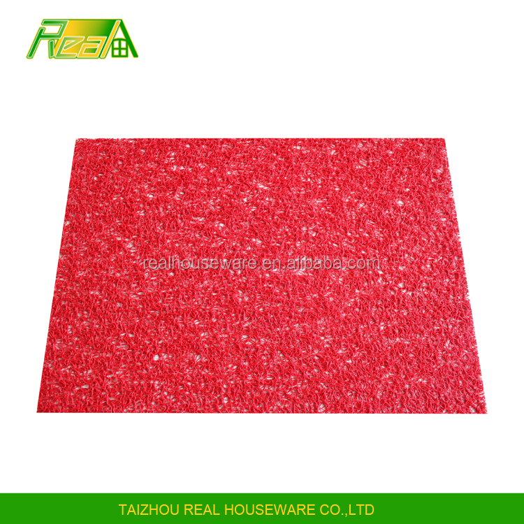 High quality custom color kitchen accessories pvc vinyl table placemats