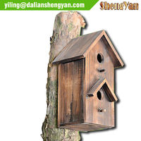 New Style Outdoor Decorative Wooden Bird Houses Natural Pet Bird Cages