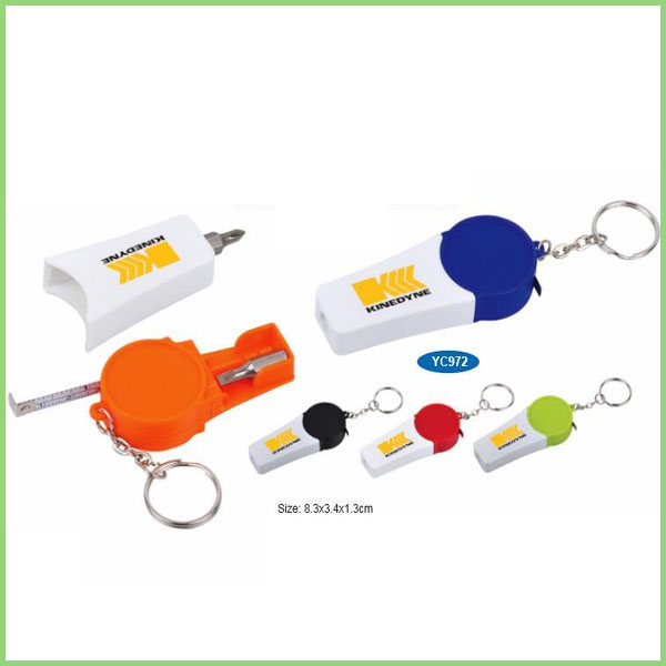 New Small Plastic Hand Screwdriver bit Tool Set with keyring