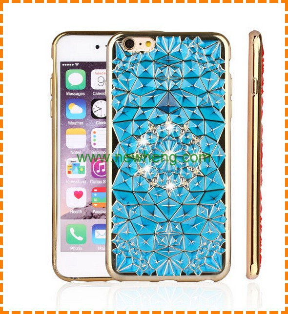 luxury phone case for iphone 7 bling diamond tpu soft cover