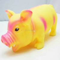 Cute rubber funny bellow the pig