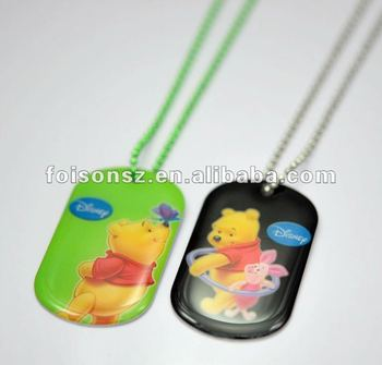 custom cheap dog tag pendant necklaces