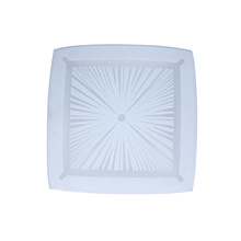 Modern Style E27 White Square Glass Surface Ceiling Lamps LED Light