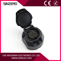 High quality CE rohs 12v n type 13 pin plastic socket