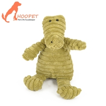 New Design Corduroy Plush Pet Chew Squeaky Natural Dog Toy for Pet