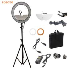 Fosoto 240 LED Ring Light with 2.8m light stand and mirror