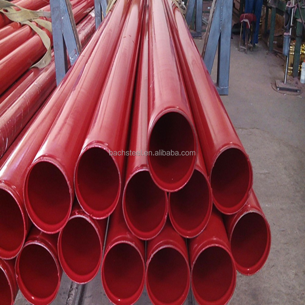 erw hot galvanized epoxy plastic coated steel round pipe