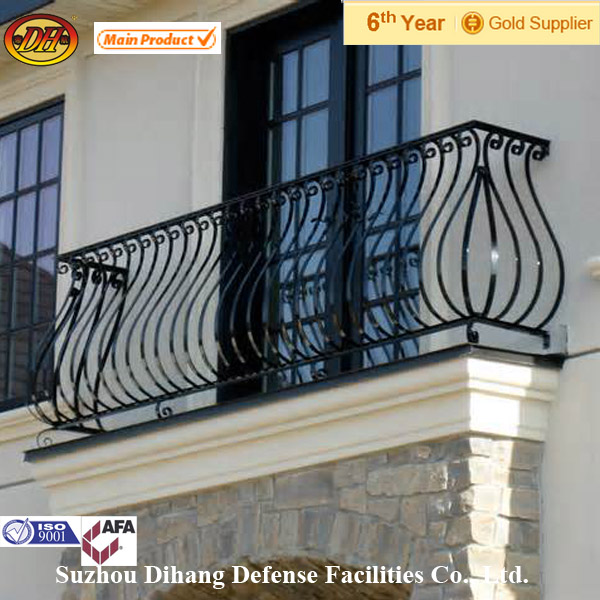wrought iron railings/interior wrought iron stair railings (ISO 9001 factory)