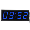 LED Digital Clock Big Red 3/4/5/6/8 Inch 4 Digit 7 Segment Display