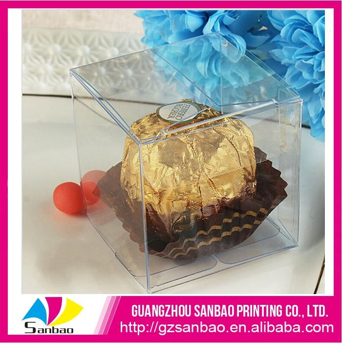 Transparent candy chocolate PET box sweets plastic packaging box