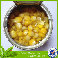 canned sweet corn in metal tins