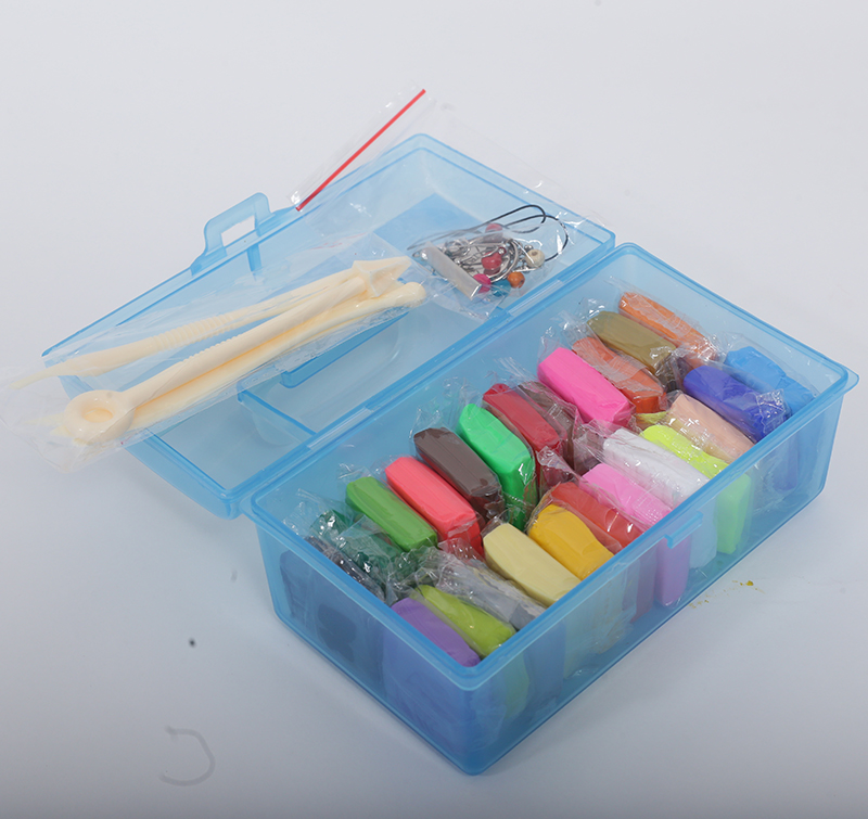 Wholesale 24 colors of cheap polymer clay with tool accessories