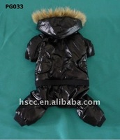 Black Cool Dog Clothes water proof pet dog clothing for winter