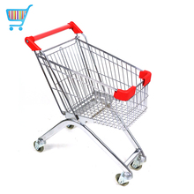 wholesale push cart trolley germany steel kids supermarket chrome mini miniature desk metal grocery shopping cart trolley