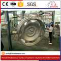 High efficiency wheels shot blaster/alloy wheels surface cleaning