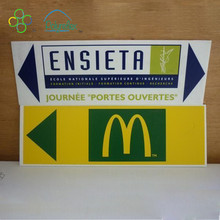 2018 new product plastic corrguated signs printing board