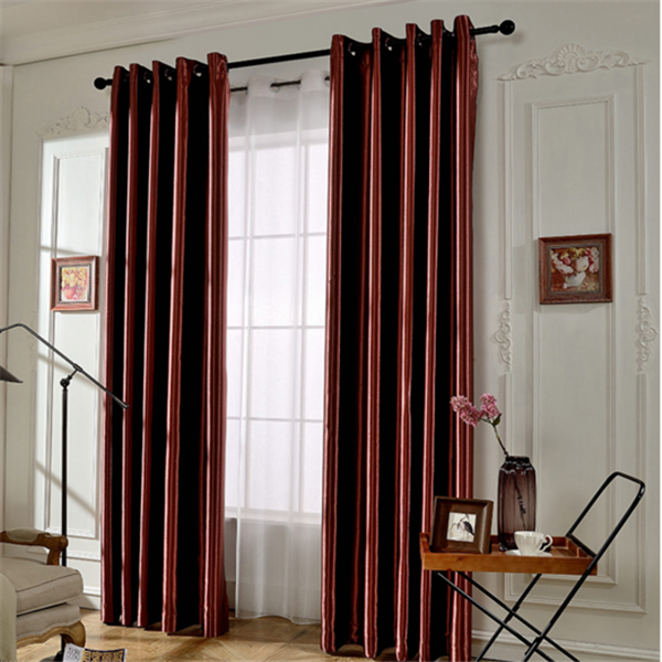 Latest curtains design blackout polyester shimmer fabric window curtains