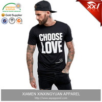 clothing manufacturers custom bamboo cotton korea t-shirts printing casual printed mens shirts