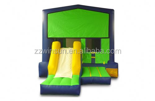 Inflatable Green & Purple Front Slide Module bounce house,jumping castle