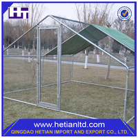 ISO9001 Certificate Easily Assembled Galvanized Steel Double Dog Kennel