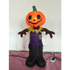 Glowing night-time display pumpkin head black devil model giant inflatable