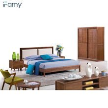 Oak double bed designs bedside table wood bedroom sets home <strong>furniture</strong>