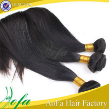 High quality unprocessed 100% virgin peruvian straight hair