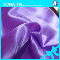 china supplier matt nontwist satin fabric 100 polyester satin woven plain dyed fabric for wedding decoration