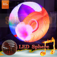 Indoor advertising electronic 2016 hot sale products 360angle led ball screen sign ball