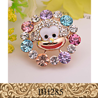 Fancylove Jewelry colorful crystals cute monkey animal brooch children dress accessories
